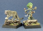 60020: Lini, Iconic Gnome Druid and Droogami, Snow Leopard