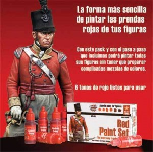 ACS-004. Andrea Red Paint Set