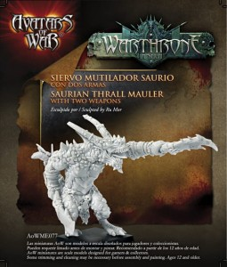 AoW77. Saurian Thrall Mauler with two weapons
