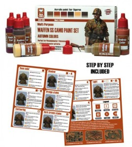 ACS-016. Waffen SS Camo Paint Set (Autumn Colors)